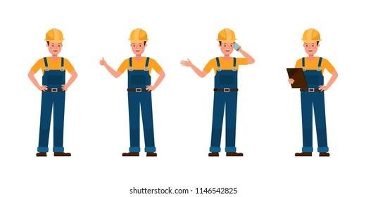 Builder vector character design