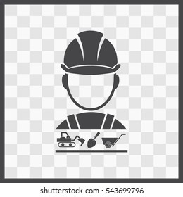 Builder vector icon. Set. vector icon. Isolated illustration. Business picture.