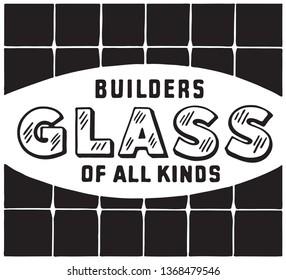 Builders Glass - Retro Ad Art Banner