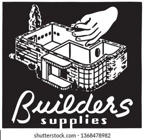Builders Supplies - Retro Ad Art Banner
