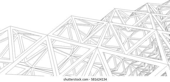 Building 3d structure. Architectural background.