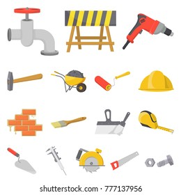 Building and architecture cartoon icons in set collection for design. Construction and Institution vector symbol stock web illustration.