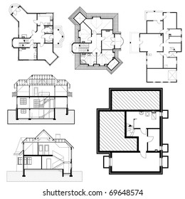 Building background. Plan of the house. eps