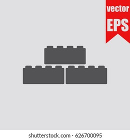 Building block icon infographic isolated in flat style.Vector illustration.
