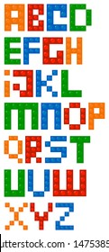 Building Blocks Alphabet Font
