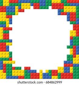 Building Blocks Brick Border Frame Background Pattern template