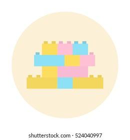 Building blocks vector icon