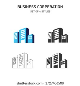 building business corporation vector icon business center