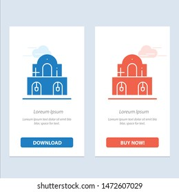 Building, Christmas, Church, Easter  Blue and Red Download and Buy Now web Widget Card Template