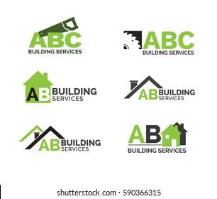 building construction logo set