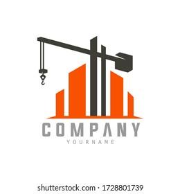 Building Construction Logo Templare Crane Concept Isolated Logo Vector