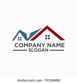 Building and Construction Logo Vector Design. Real Estate Logo Template Design For Business
