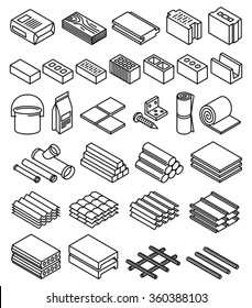 Building construction materials vector