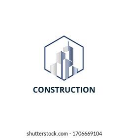 Building, Construction, Real Estate Logo Template Vector Icon.