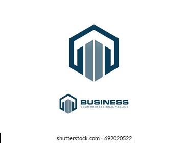 Building Construction Real Estate Logo Template Vector Icon