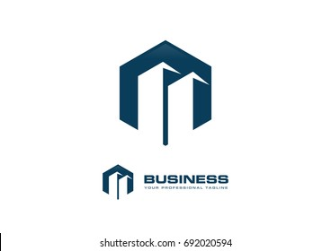 Building Construction Real Estate Logo Template Vector Icon