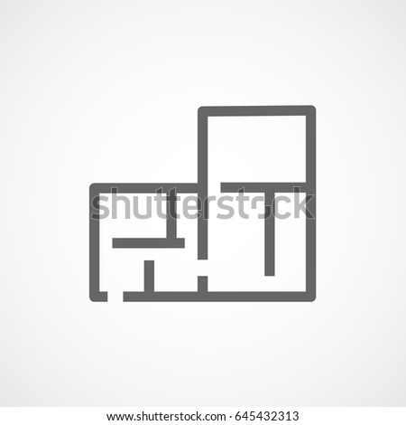 Building Construction Tool Apartment Plan Flat Stock Vector (Royalty ...