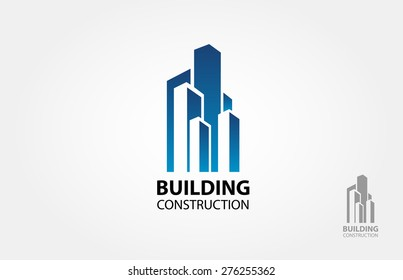 Building construction vector logo design template