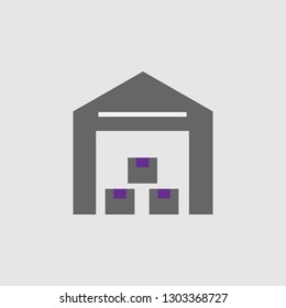 Building, crates icon. Element of Delivery and Logistics icon for mobile concept and web apps. Detailed Building, crates icon can be used for web and mobile