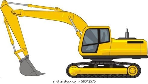 building excavator on a caterpillar base