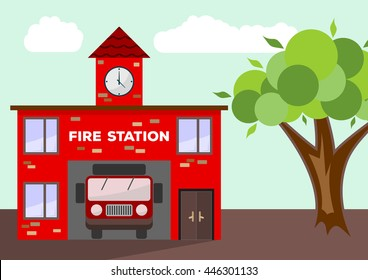 Fire Station Images Stock Photos Amp Vectors Shutterstock