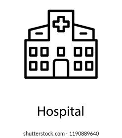 Building having plus sign is known as hospital