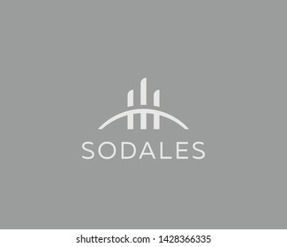 Building house city vector logotype. Premium real estate construction logo. Development icon symbol.