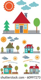 building, house, home, city, urban, real estate, suburb, downtown, cityscape, skyscraper, architecture, construction, residential icons, signs concept vector