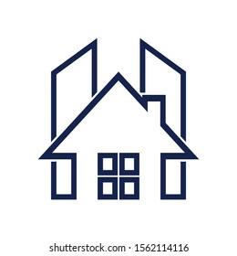 Building House Letter H Architecture Business Company Vector Logo Design