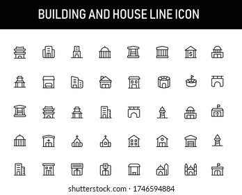 Building And House Solid Line Icon