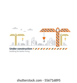 Real Estate Building Company Under Construction Stock Vector