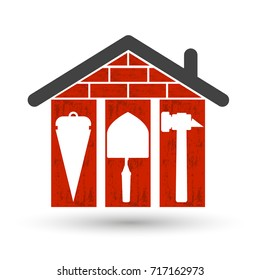 Building houses symbol for business