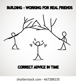 building humor working for real friends