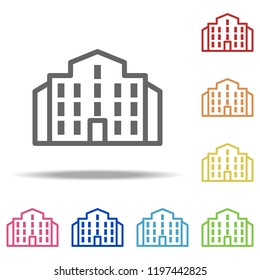 building icon. Elements of Buildings in multi colored icons. Simple icon for websites, web design, mobile app, info graphics