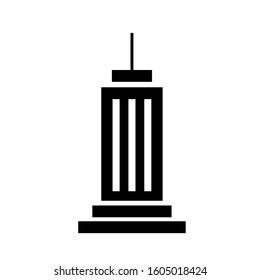 Building icon. Ikon of Tower , apartments, Office   in black color.