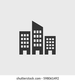 Building icon illustration isolated vector sign symbol