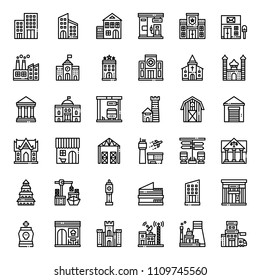 building icon, isolated on white background