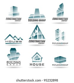 Building icon set. Abstract architecture for your design.