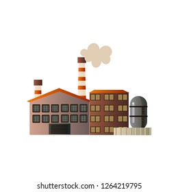 The building of an industrial manufactory. Plant for processing raw materials.