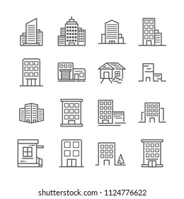 building line icon 30x30 pixel. Editable stroke. Vector illustration.