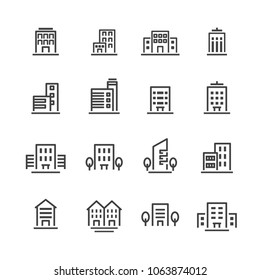 building line icon set
