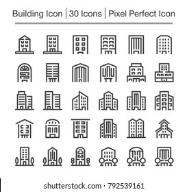building line icon,editable stroke,pixel perfect icon