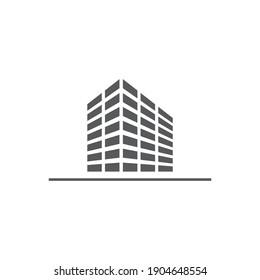 Building logo Concept creative symbol minimalist abstract icon vector illustration