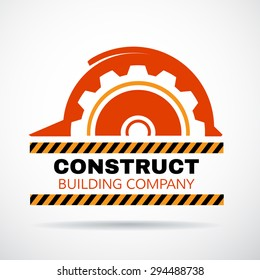 building logo construction working industry concept vector illustration