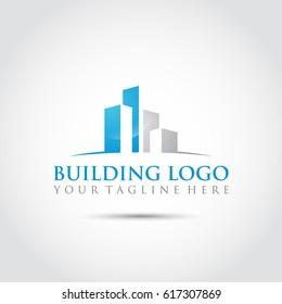 Building Logo Template. Vector Illustrator Eps.10