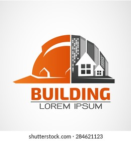 Building logo,architecture building vector logo design template. Skyscraper real estate business theme icon.