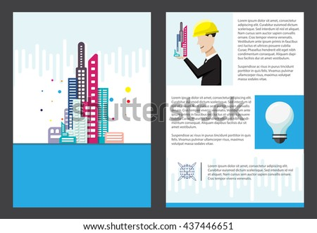 building office brochure template a 4 size stock vector royalty