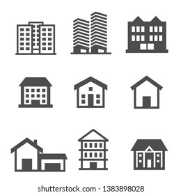 Building Office Icons Symbol Vector