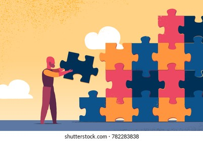 Building puzzle wall