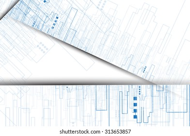 Building and real estate city illustration. Abstract background for business presentation, sale, rent